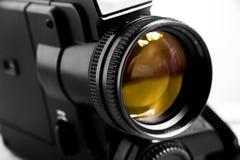 8黑色照相机老超级录影 库存图片