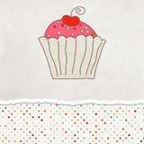 8 κάρτα cupcake eps αναδρομική Στοκ Φωτογραφίες