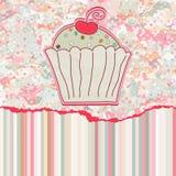 8 κάρτα cupcake eps αναδρομική Στοκ φωτογραφίες με δικαίωμα ελεύθερης χρήσης