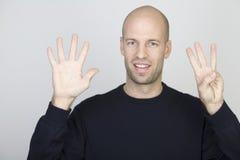 8 μετρώντας αριθμός Στοκ φωτογραφία με δικαίωμα ελεύθερης χρήσης