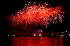 8 πυροτεχνήματα Στοκ εικόνα με δικαίωμα ελεύθερης χρήσης