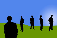 8 σκιές επιχειρηματιών απεικόνιση αποθεμάτων