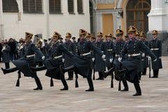 8 φρουρά Κρεμλίνο Μόσχα Στοκ Εικόνες