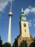 8 башен 2 fernsehturm Стоковая Фотография