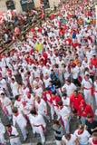 8 бык pamplona -го июль бежит Испания Стоковое фото RF