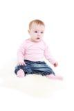 8 джинсыов куртки девушки ежемесячно pink стоковые фотографии rf
