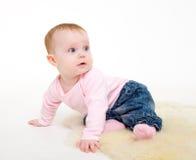 8 джинсыов куртки девушки ежемесячно pink стоковые изображения rf