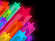 8 звезд eps абстрактной предпосылки темных накаляя Стоковые Фотографии RF