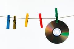 8 компактных дисков Стоковое Изображение