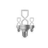 8-ое марта и электрическая лампочка Стоковая Фотография