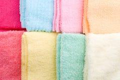 8 положенных полотенец Стоковые Фотографии RF