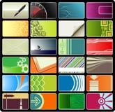 8 установленных визитных карточек Стоковые Фото