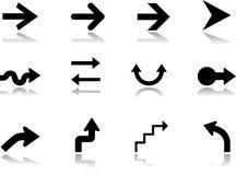 8 установленных икон стрелок Стоковое Изображение RF