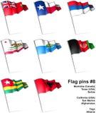 8 штырей флага Стоковое Изображение