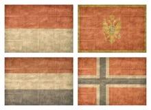 8/13 Markierungsfahnen der europäischen Länder Lizenzfreie Stockfotos