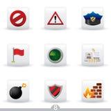 8个图标证券系列 免版税图库摄影