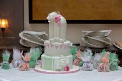 8个饼婚礼 库存图片