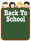 8.5x11 Back to school flyer template Royalty Free Stock Photography