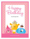 8.5x11 birthday flyer/poster template stock illustration