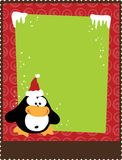 8. 5x11 Christmas/New Year Flyer. Template Shell with penguin stock illustration