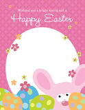 8.5x11 Easter Flyer. With bunny and colorful eggs Stock Photos