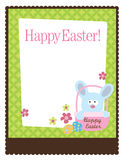 8.5x11 Easter Flyer Template. Easter bunny in a basket on 8.5x11 Flyer Stock Photography