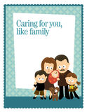 8.5x11 Flyer/Poster Template. With Hispanic family royalty free illustration