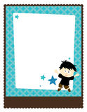 8.5x11 Flyer/Poster Template. With boy and stars stock illustration