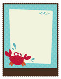 8.5x11 Flyer/Poster Template. With crab and fish royalty free illustration
