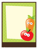 8.5x11 Flyer/Poster Template. Illustration of a carrot and apple flyer vector illustration