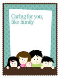 8.5x11 Flyer/Poster Template with family. Generic 8.5x11 Flyer/Poster Template with family Stock Images