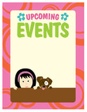 8.5x11 Girl and Dog Flyer Stock Images