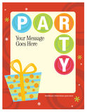 8.5x11 Party Flyer/Poster Template. 8.5x11 Party Flyer/Poster Template illustration with present Royalty Free Stock Photo