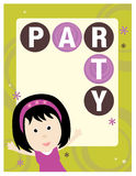 8.5x11 Party Flyer/Poster Template. Generic 8.5x11 Party Flyer/Poster Template with girl stock illustration