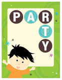 8.5x11 Party Flyer/Poster Template. Generic 8.5x11 Party Flyer/Poster Template with boy Royalty Free Stock Photography