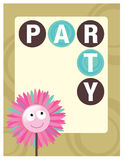8.5x11 Party Flyer/Poster Template. Generic 8.5x11 Party Flyer/Poster Template with flower Stock Image