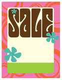 8.5x11 Sale Flyer/Poster. Seventies Style Sales Flyer/Poster Template royalty free illustration