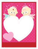 8. 5x11 Valentine Flyer/card. 8. 5x11 template with baby angels holding a heart royalty free illustration