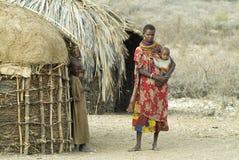 8 afrikanska folk Arkivbild