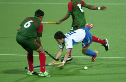 8. Asien-Cup der Männer Japan 2009 gegen Bangladesh stockfotografie