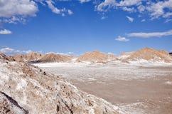 8 atacama智利沙漠月亮谷 库存照片
