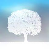 8 błękit eps krajobrazu sylwetki drzewny biel royalty ilustracja