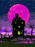 8 bakgrund eps grungy halloween Royaltyfri Fotografi