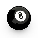 8 Ball. 3d render of 8 ball isolated on white background Royalty Free Stock Images