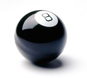 8 Ball. On white background Stock Image