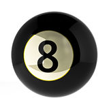8 ball billiard. 8 black ball billiard rendering stock illustration