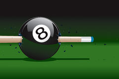 8 Ball Broken Stock Photography