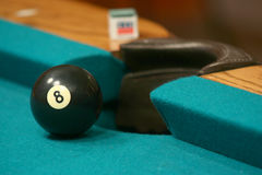 8 ball near side pocket Stock Photography