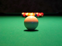 8 Ball (Pool). A game of pool stock photos