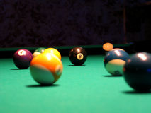 8 Ball (Pool). A fight for the 8 ball royalty free stock images